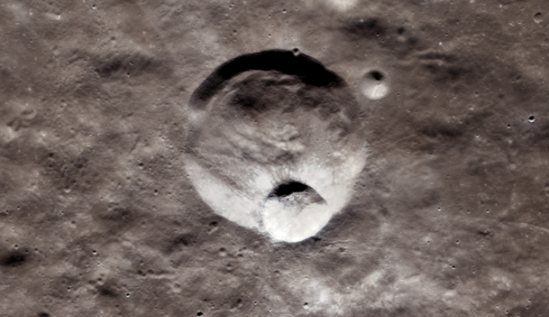 A crater within a crater - the Hawke Crater and Grotrian Crater