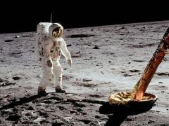 Buzz Aldrin on the Apollo 11 moon landing