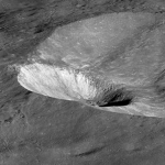Side view of the Hawke & Grotrian Craters
