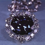 The Hope Diamond, one of the largest blue diamonds ever found