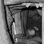 Looking into a shaft of Goldfield mine in Arizona