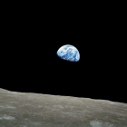 Earthrise seen from the moon