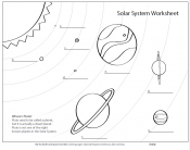 Image of solar system coloring worksheet