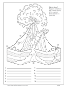 Volcano Anatomy Diagram and Worksheet
